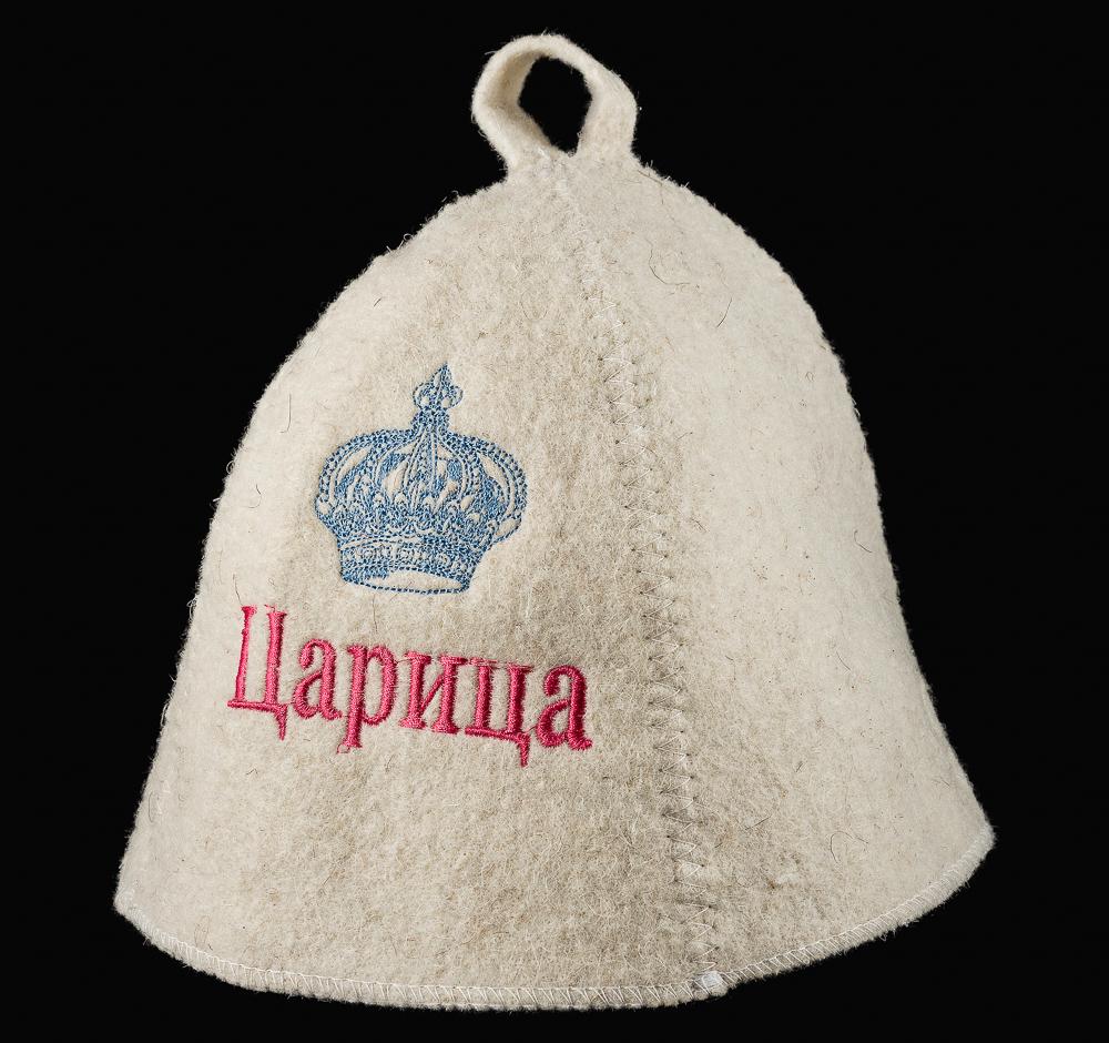 Шляпа банная с вышивкой